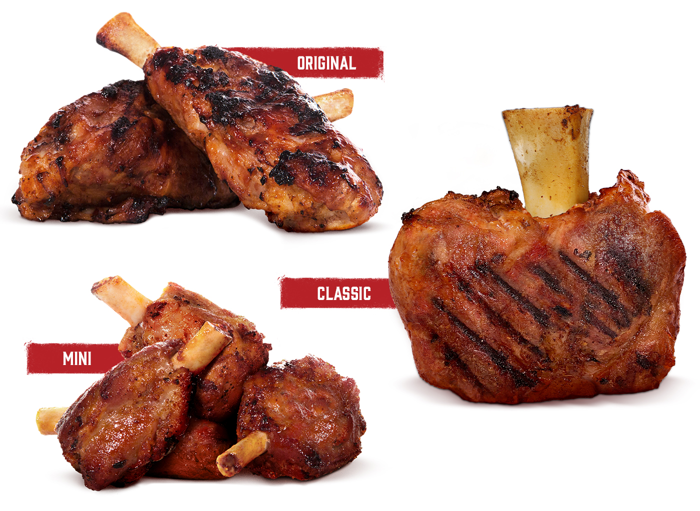 Showcase_Pioneer_Meats_Pig_Wings_displayed_prepared_and_in_3_sizes_available_form_smallest_to_largest_:_mini,_Original,_Classic