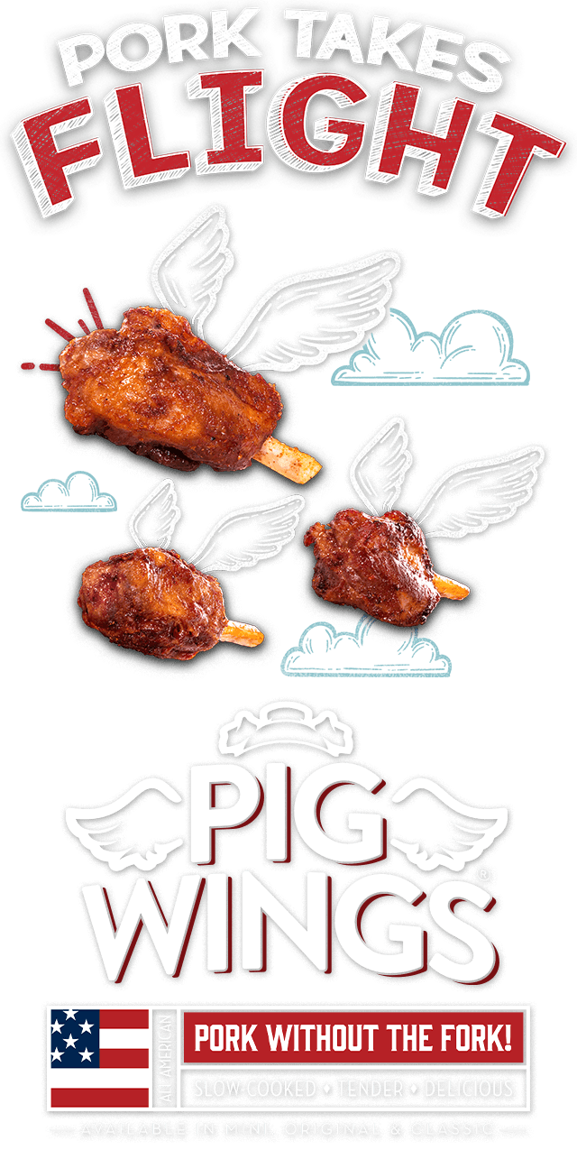 Chalk_and_Photographic_Montage_of_Pork_Products_in_flight_including_pioneer_meats_pig_wings,